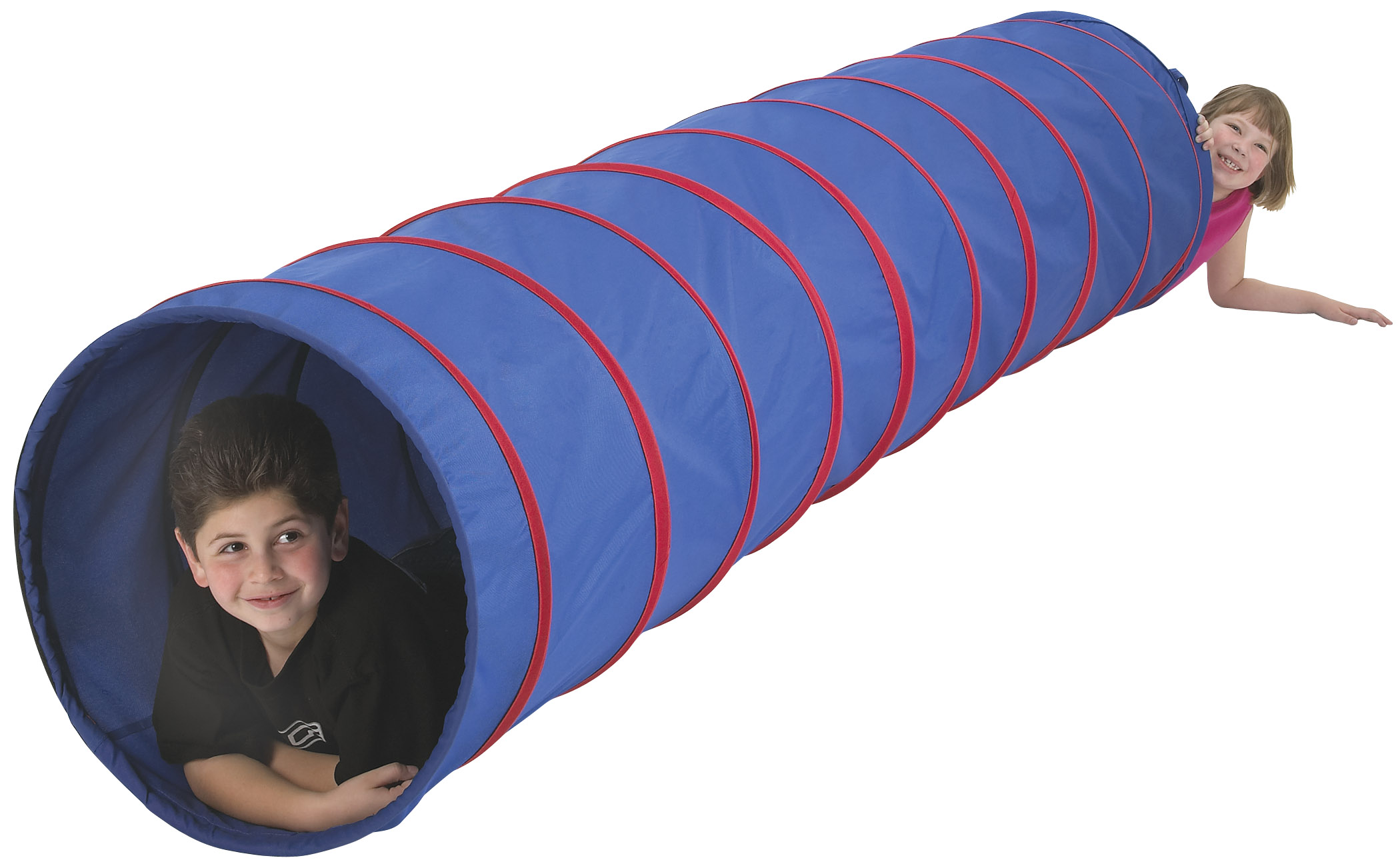 Pacific Play Tents Institutional 9 foot Play Tunnel (blue w/ blue)