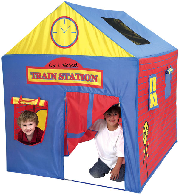 Pacific Play Tents Train Station Play House Tent